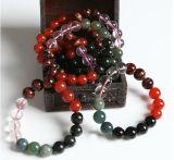 Semi Precious Stone Crystal Beaded Chakra Bracelet Jewelry