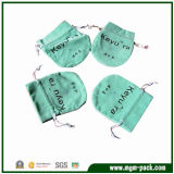 Good Selling Mint Green Drawstring Jewelry Bag with Round Bottom