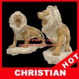 Animal Marble Statue Lion Stone Sculpture