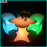 LED Arm Chair and Flower Shape Table Light up Furnitures