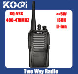 Kq-V8s UHF 400-470MHz Waterproof 2-Way Walkie Talkie