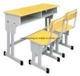 Adjustable Double School Student Classroom Chair and Table (7602)