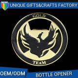Customized Promotion Gift Metal Gold Palting Bottle Opener Printing Logo