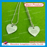 Stainless Steel Dog Tag Heart Shaped Stamping Dog Tags