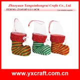 Christmas Decoration (ZY14Y187-1-2-3) Christmas Decoration Storage Christmas Plastic Food Boot Christmas Festival