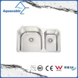 Undercounter Build-in Drain Board Kitchen Sink (ACS8052BM)