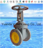 Cast iron NRS gate valve ANSI CLASS 125 flanged end FF/RF