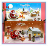 Christmas Gift Cheap Stereoscopic Pattern Greeting Christmas Card