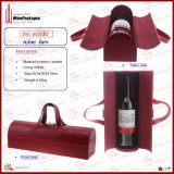 Fashionable Leather Wine Tote (6135R7)