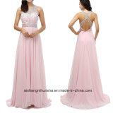 Women Beading Chiffon Sleeveless Evening Dress Prom Dress