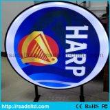 Round Plastic LED Vacuum Forming Light Box Advertising Board