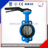 Industrial Cast Iron Wafer Type Butterfly Valve with Single Shaft