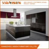 Blum/ Dtc Hinged Wooden Color Melamine Faced MDF Kitchen Cabinet