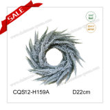 D22cm Plastic Snowy Christmas Wreath Decoration Christmas Decorations
