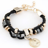 VAGULA Handmade Gold Plating Pendant Charms Women′s Bracelet