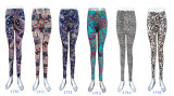 Women Fashion Clothing Printed Ninth Length Skinny Pants
