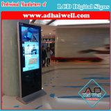 Slim WiFi Hotel 42 Inch Floor Standing Digital Advertising Screen LCD Display