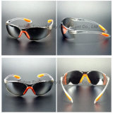 Indoor/Outdoor Mirror Lens Sporty Type Safety Glasses with Pad (SG102)