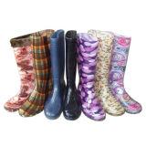 Fashionable Transparent Ladys PVC Rain Boots for Woman A202
