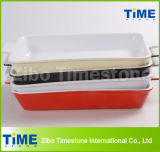 Rectangular Color Glazed Ceramic Bakeware (TM-1123)