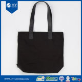 Digital Printed Black Cotton Canvas Women Tote Bag