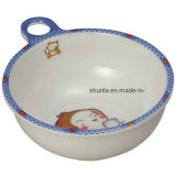100% Melamine Dinnerware- Kid′s Bowl W/ Handle/Melamine Tableware (BG2006)