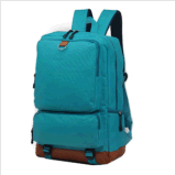 Men′s Backpack Shoulder Bag Travel Camping School Canvas Satchel Mint Green Bag