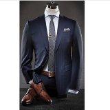 Plaid Men′s Coat Pants Designer Office Suit
