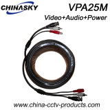 25 Meters Coaxial CCTV Cable for Video, Audio, Power (VPA25M)