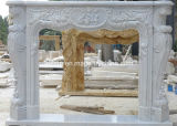 Western Style Indoor Natural Marble Fireplace