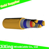 Double PVC Insulated Copper Solid Conductor Electric Power Cable