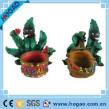 OEM Creative Polyresin Leaves Ashtray for Smoking