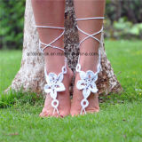 Delicate Ankle Bracelet Crochet Barefoot Sandals Foot Jewelry