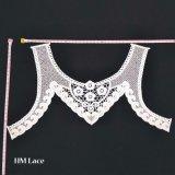 White Cream Lace Collar Applique, Embroidered Lace Collar, Lace Neckline
