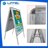 Outdoor Silver Aluminum Poster Boards Double Sided Pavement Sign (LT-10)