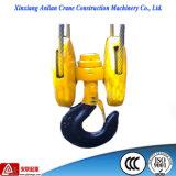 Heavy Duty Double Hook, Crane Hook Block 5t Steel Pulley Hook