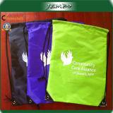 Logo Printing Outdoor Polyester Drawstring Bag
