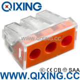 3 Gang Wago Type Plug Clamp Connector for Junction Box