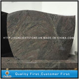 Cheap India Granite Tombstone with Simple Style