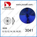 Round Sewing Crystal Beads in Blue Color (DZ-3041)