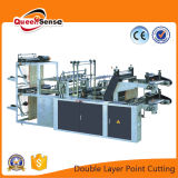 Double Layer Point Cutting Bag on Roll Machine