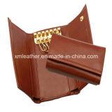 Brown Fashion Imitation Leather Key Holder for Men
