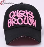 Black Cotton Baseball Cap for Outdoor Sports