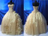 Champagne Organza Georgeous Prom Dress