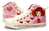 Children Canvas Shoes Girl Running Sports Shoes (416-5828)