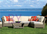 by-473 Luxury Garden Rattan Sofa Wicker Big Lots Outdoor Furniture