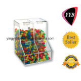 Clear Acrylic Candy Box with Two Compartment (YYB-263)