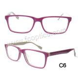 Rectangle Acetate Optical Frame for Unisex Eyewear
