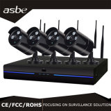Waterproof IR Wireless P2p NVR Home CCTV Security Camera Kit with Array LED