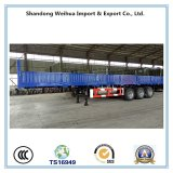 60t 12.4m Side Wall Flatbed Cargo Semi Trailer for Sales